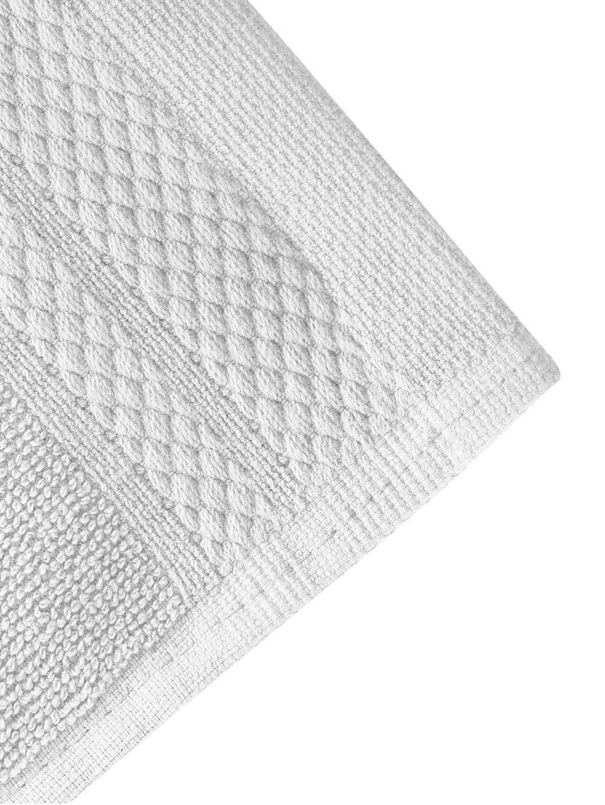 Handtuch Premium in verschiedenen Größen, mit klassischer Zierbordüre, Hellgrau, XS Gästehandtuch
