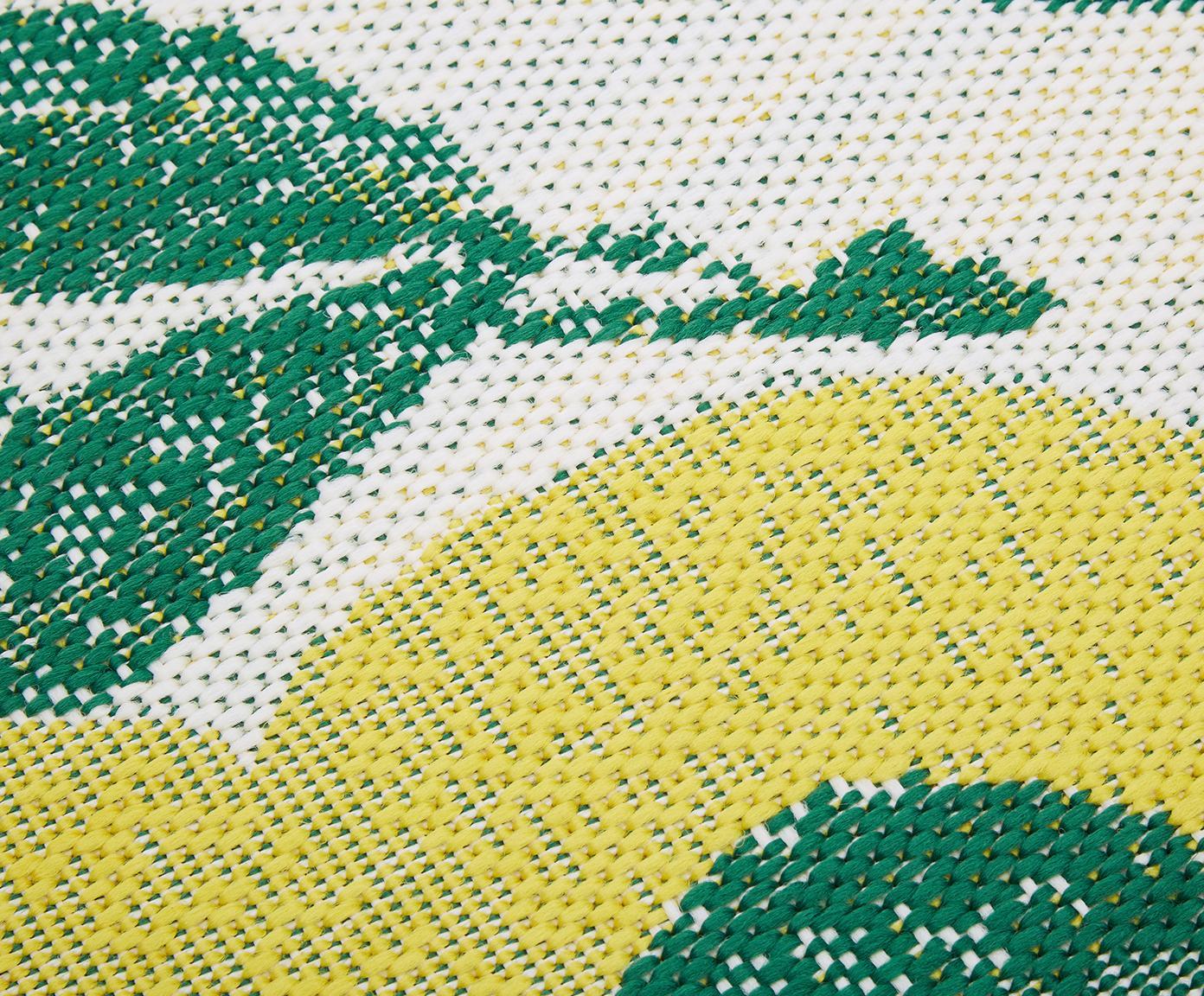 In- & Outdoor-Teppich Limonia mit Zitronen Print, Flor: 100% Polypropylen, Cremeweiß, Gelb, Grün, B 200 x L 290 cm (Größe L)