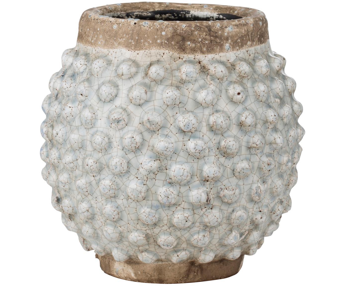 Übertopf Magna, Keramik, glasiert, Braun, Blau, Ø 20 x H 19 cm