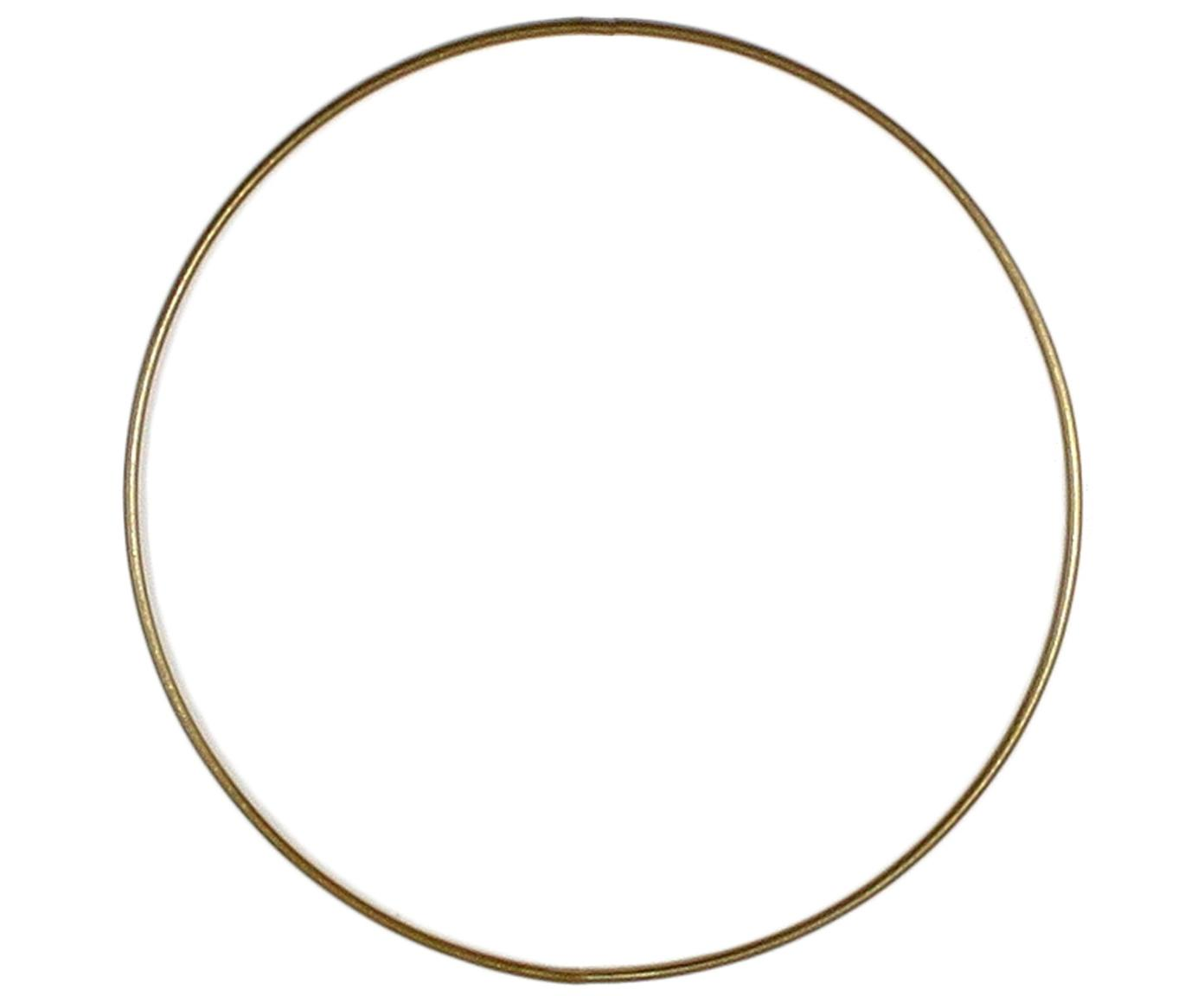 Ring Rondon, Metall, lackiert, Messingfarben, Ø 20