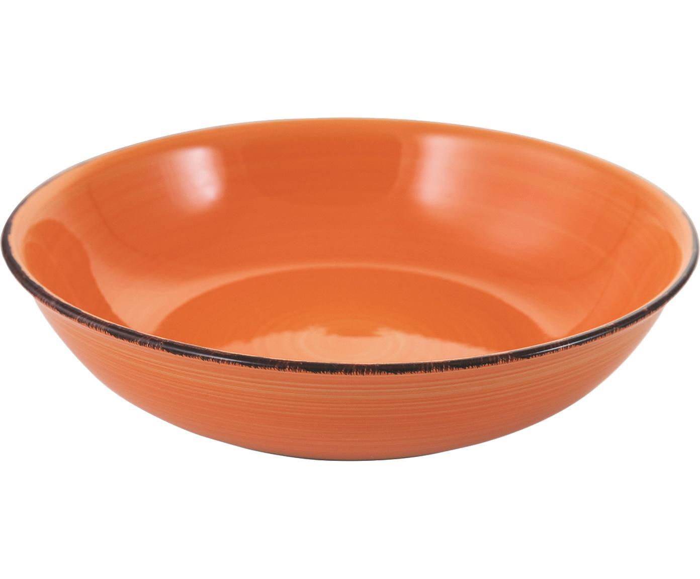 Kom Baita, Handbeschilderde keramiek, Oranje, Ø 29 x H 7 cm