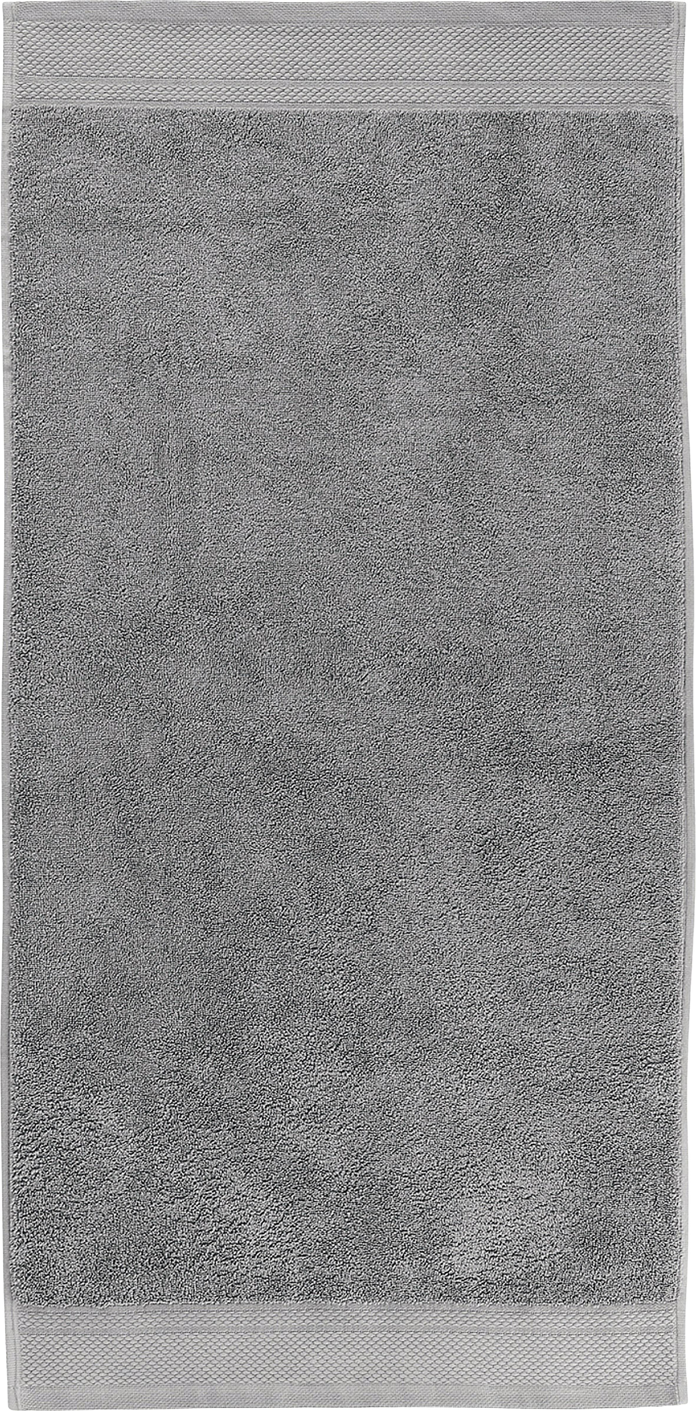 Handtuch-Set Premium mit klassischer Zierbordüre, 3-tlg., Dunkelgrau, Verschiedene Grössen