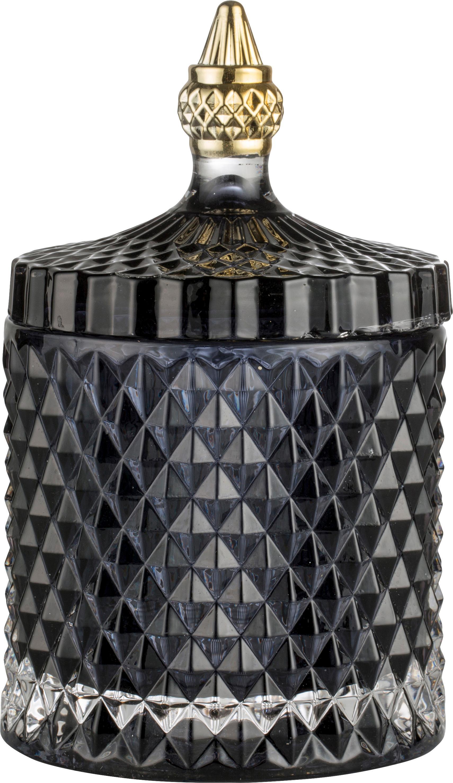 Bote decorativo Miya, Vidrio, Negro, Ø 11 x Al 18 cm