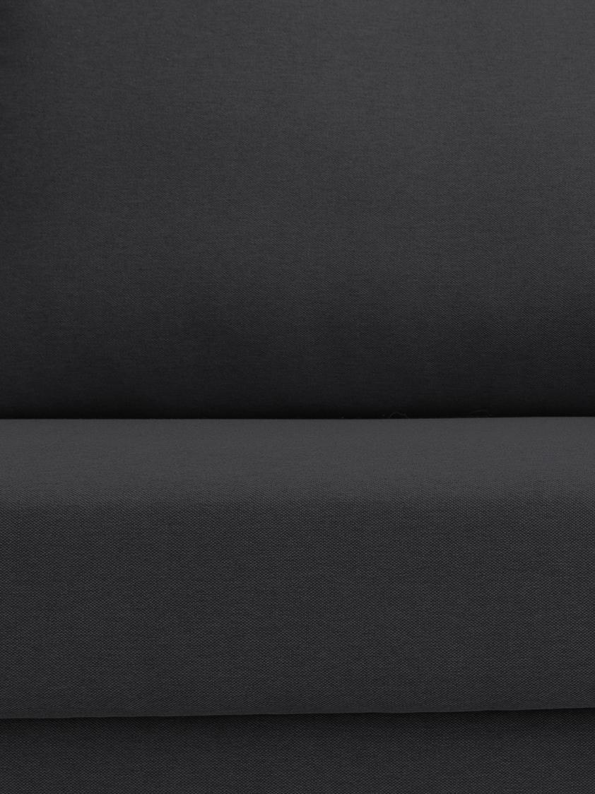 Schlafsofa Bruno (2-Sitzer), Bezug: Pflegeleichtes robustes P, Rahmen: Massivholz, Webstoff Anthrazit, B 180 x T 84 cm