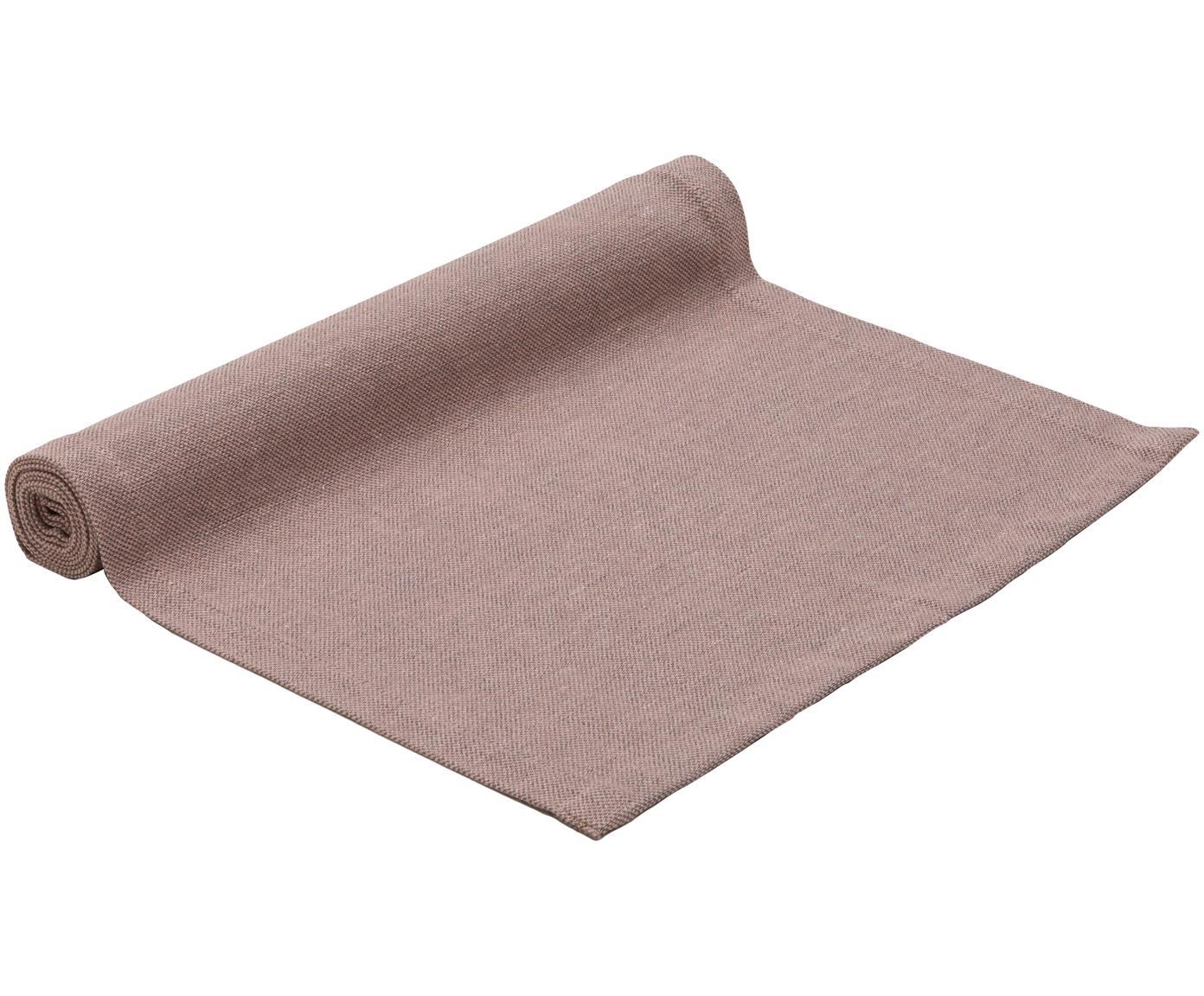 Tischläufer Riva, 55%Baumwolle, 45%Polyester, Mauve, 40 x 150 cm
