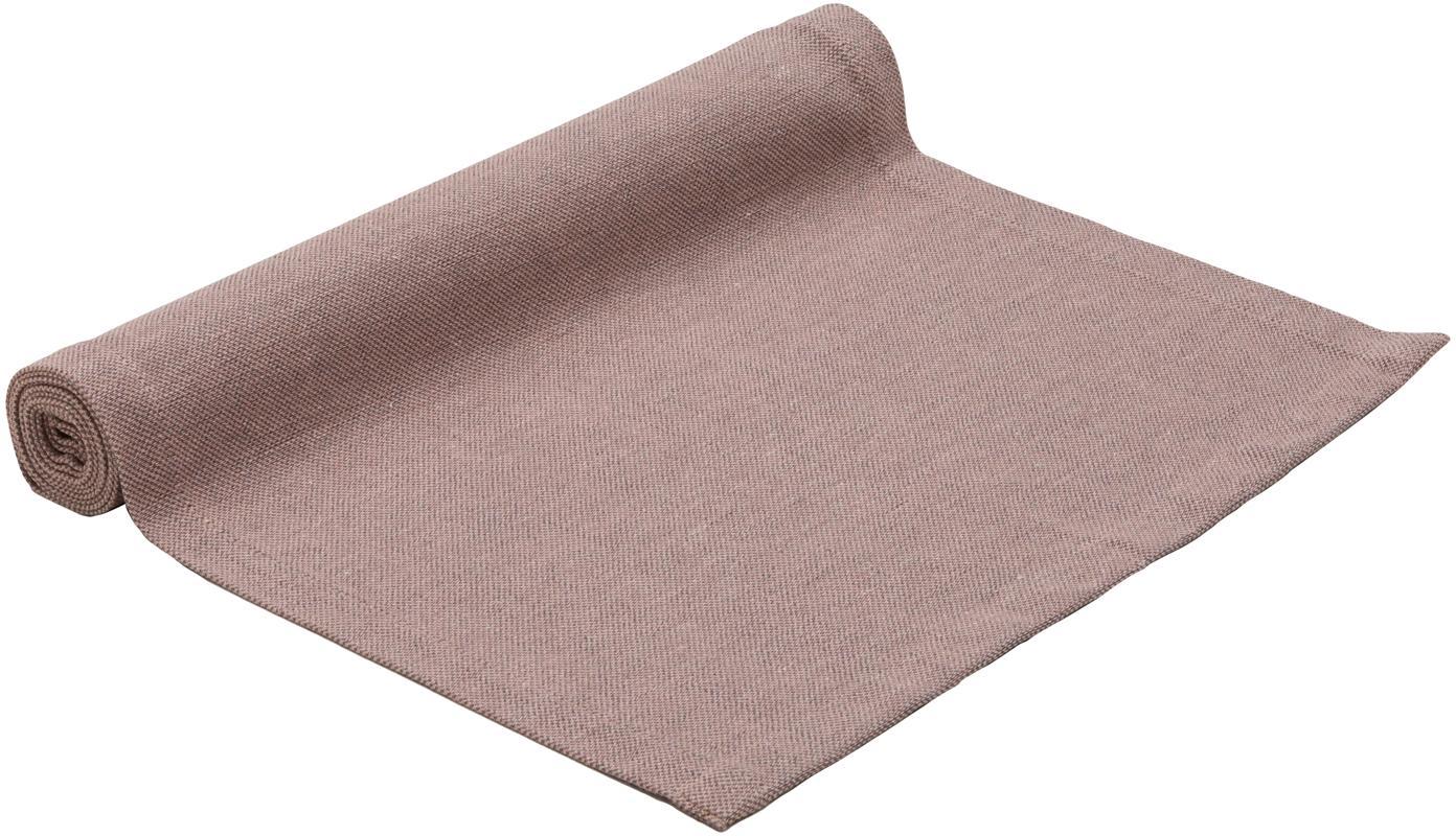 Tafelloper Riva, 55%katoen, 45%polyester, Mauve, 40 x 150 cm
