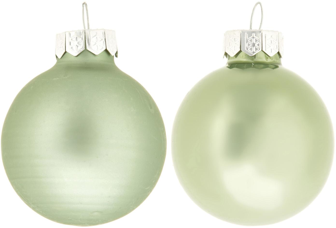 Mini kerstballenset Evergreen Ø4cm, 16-delig, Mintgroen, Ø 4 cm