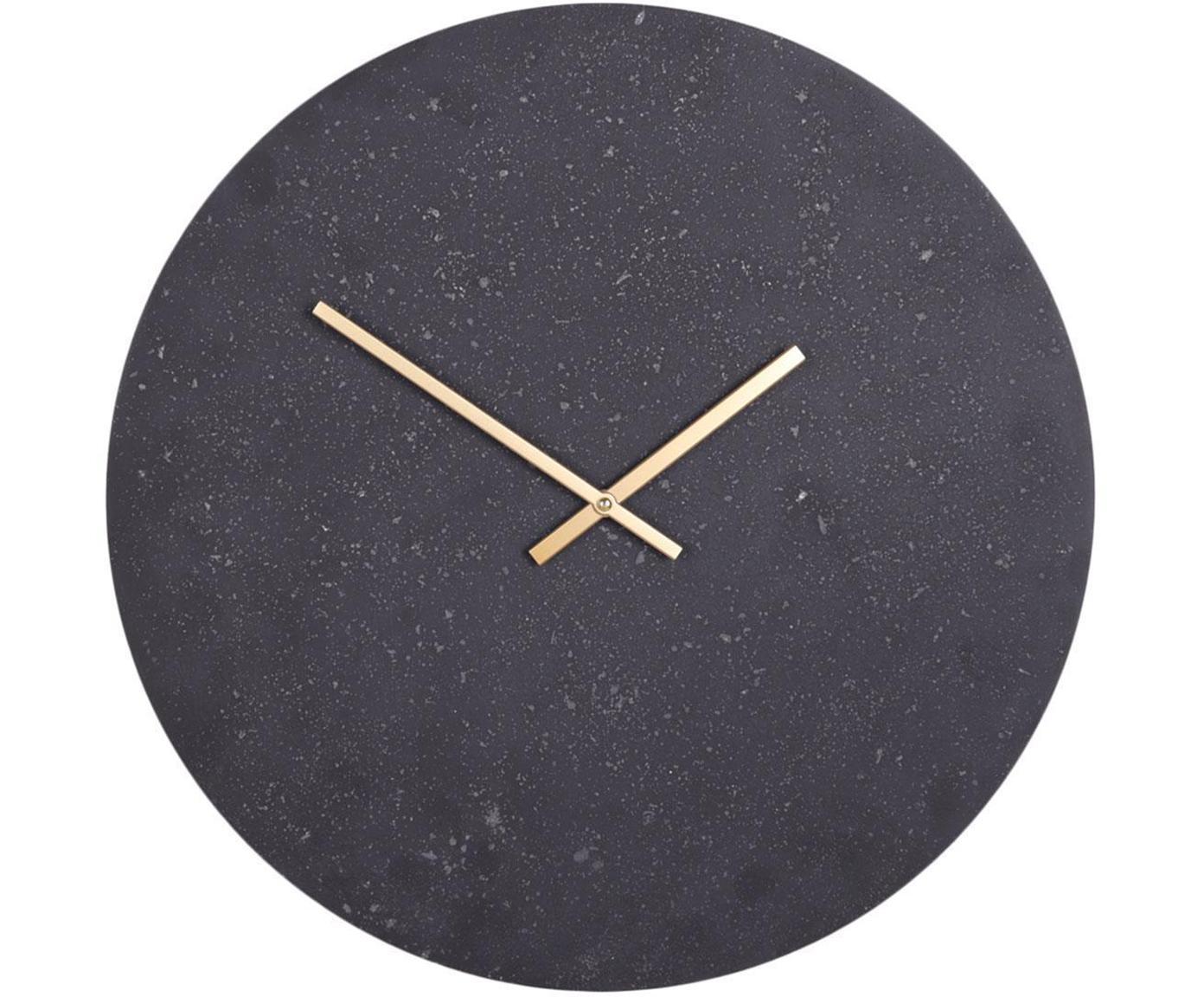 Reloj de pared Paris, Madera contrachapada, Negro, Ø 50 cm