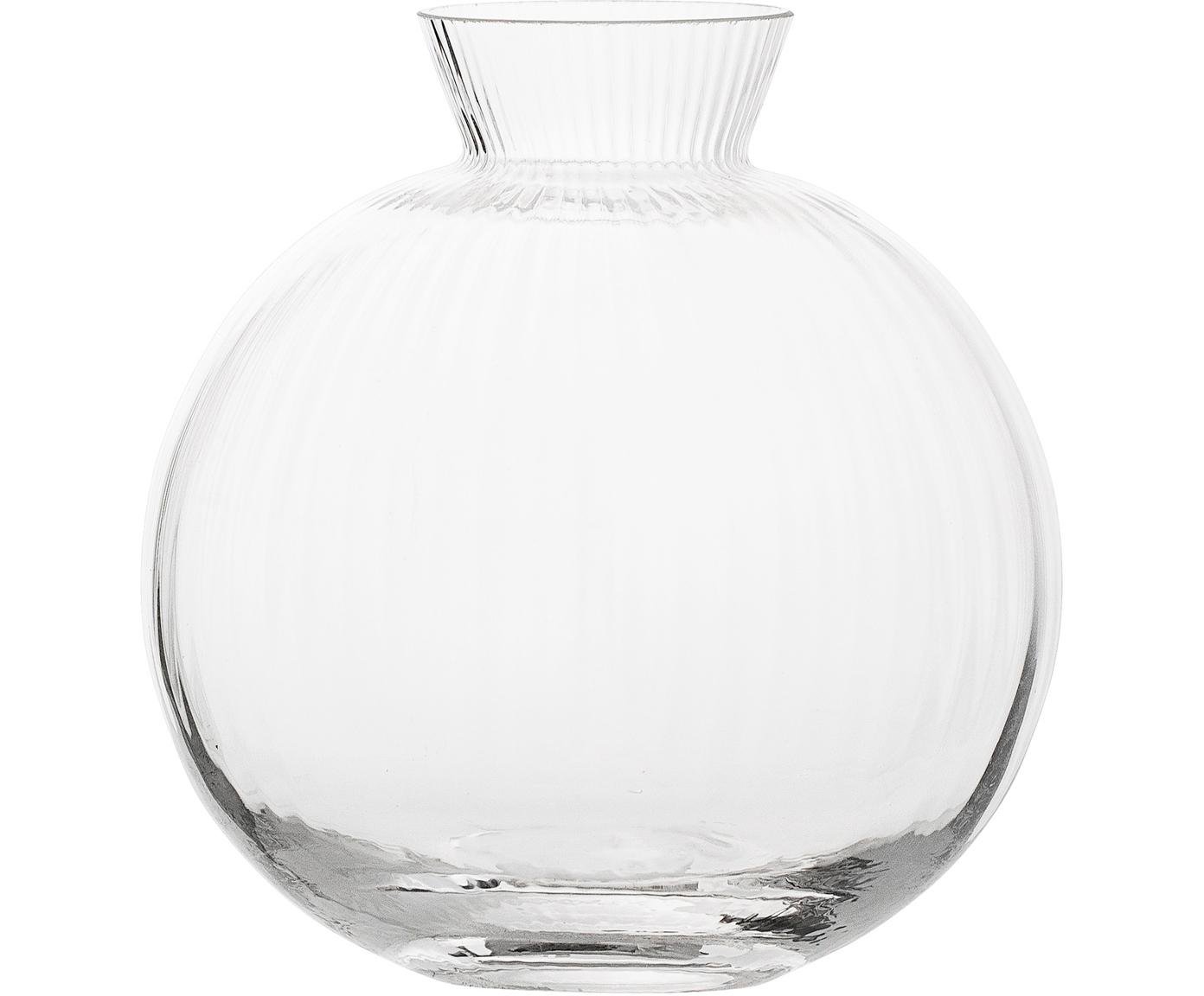 Jarrón de vidrio Visible, Vidrio, Transparente, Ø 11 x Al 12 cm