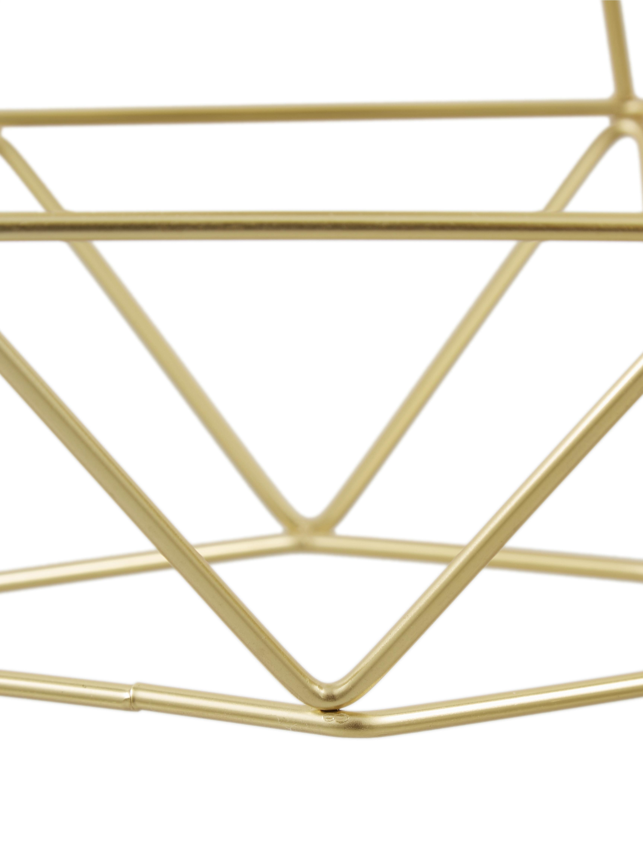 Große Pendelleuchte Kyle, Baldachin: Metall, gebürstet, Goldfarben, 80 x 100 cm