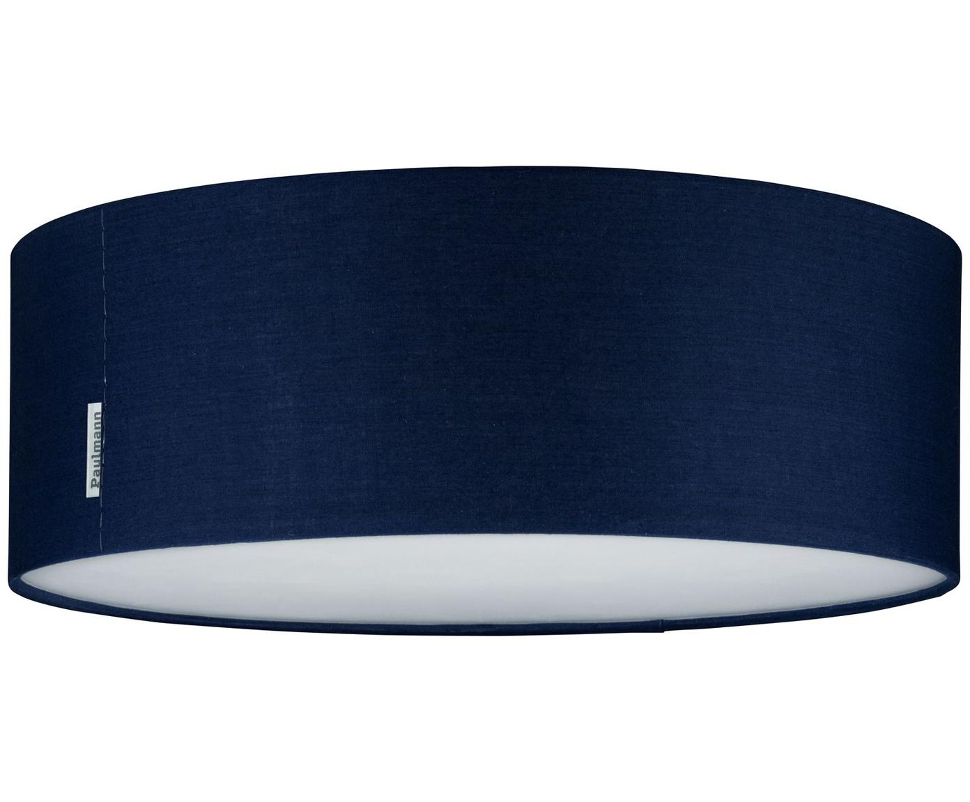 Plafoniera in blu scuro Mari, Paralume: poliestere, Blu scuro, Ø 38 x Alt. 13 cm