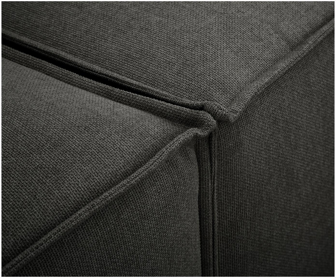 Modulaire chaise longue Lennon, Bekleding: polyester, Frame: massief grenenhout, multi, Poten: kunststof, Antraciet, B 269 x D 119 cm