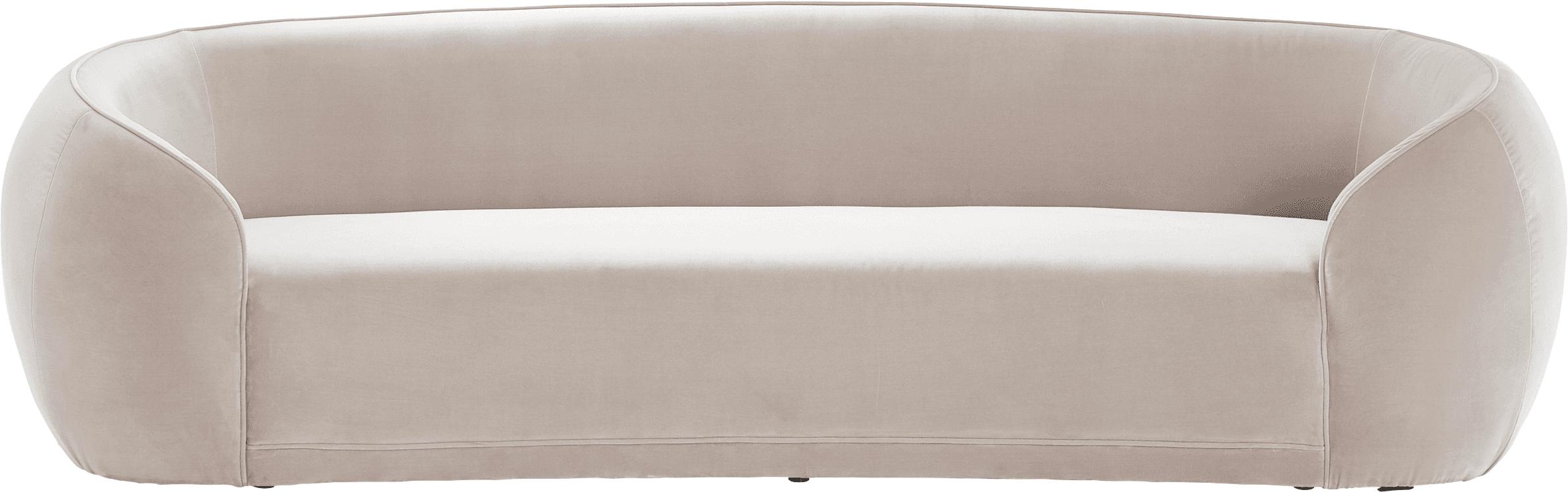 Samt-Sofa Austin (3-Sitzer), Bezug: 89% Baumwolle, 11% Polyes, Gestell: Kiefernholz, Samt Beige, B 232 x T 92 cm