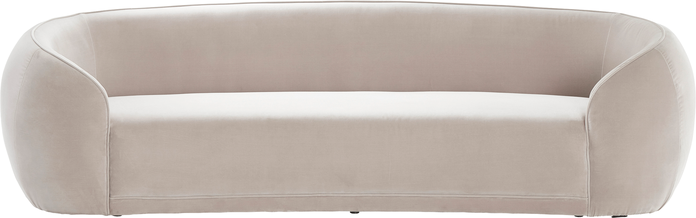 Sofá de terciopelo Austin (3plazas), Tapizado: 89%algodón, 11%poliéste, Estructura: madera, Terciopelo beige, An 232 x F 92 cm