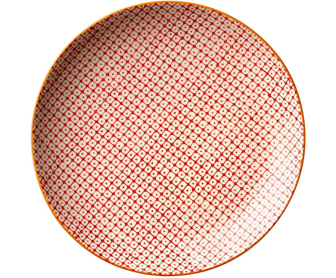 Speiseteller Carla mit kleinem Muster, 3er-Set, Steingut, Mehrfarbig, Ø 25 cm