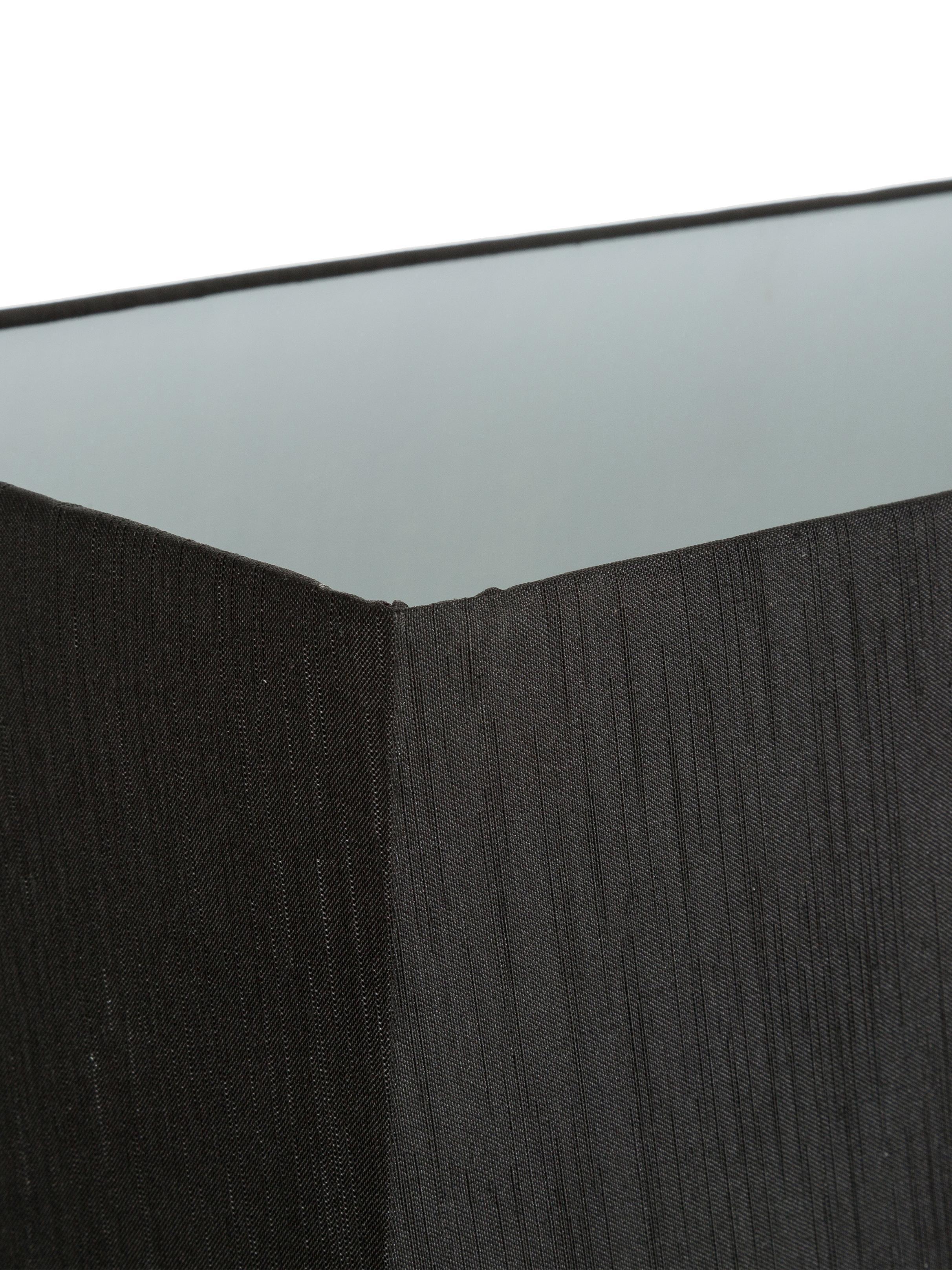 Große Tischlampe Serafina aus Spiegelglas, Lampenfuß: Spiegelglas, Lampenschirm: Textil, Lampenfuß: Schwarz, verspiegelt<br>Lampenschirm: Schwarz, 38 x 58 cm