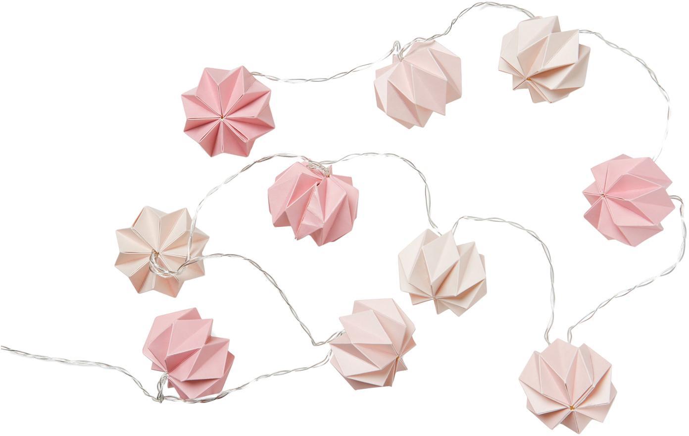 Ghirlanda in carta Origami, Carta, Rosa, Lung. 200 cm