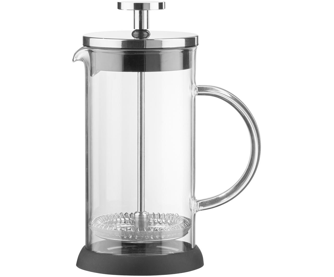 Koffiemaker Beata, Borosilicaatglas, edelstaal, polypropyleen, siliconen, Transparant, edelstaalkleurig, zwart, Ø 14 x H 22 cm