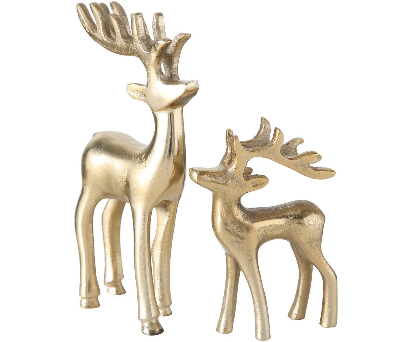 Komplet dekoracji Taisto, 2 elem., Aluminium powlekane, Odcienie złotego, Różne rozmiary