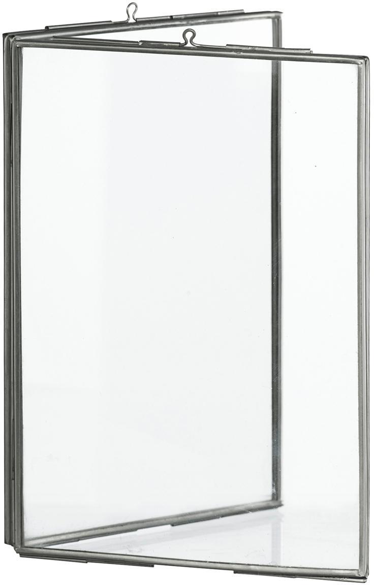 Cornice doppio vetro Double, Vetro, metallo rivestito, Acciaio inossidabile, 10 x 15 cm