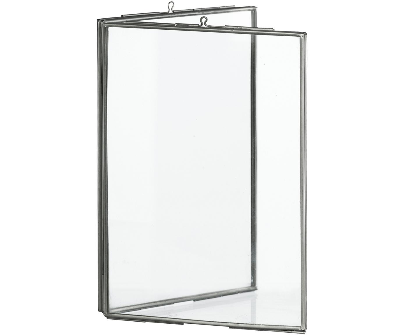Cornice Double, Vetro, metallo rivestito, Acciaio inossidabile, 10 x 15 cm