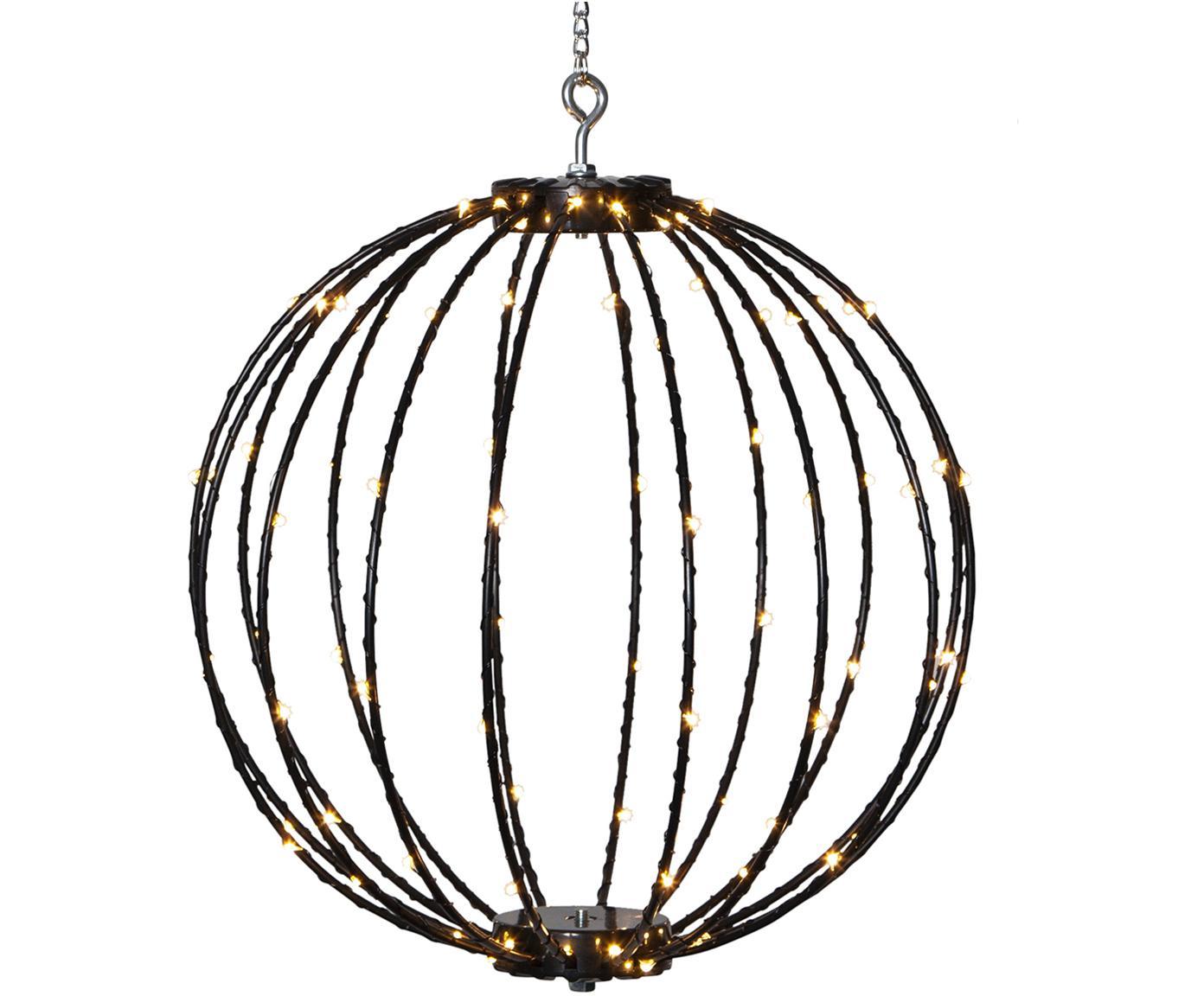 LED Außenleuchte Mounty, Lampenschirm: Kunststoff, Schwarz, Ø 30