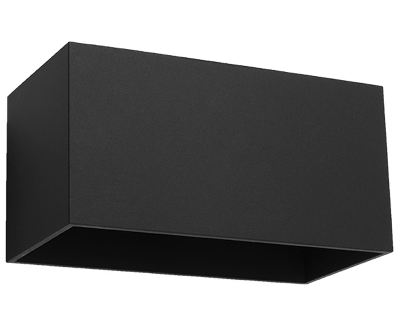 Wandleuchte Geo Maxi, Aluminium, Schwarz, 20 x 10 cm