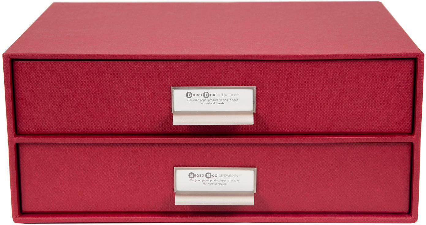 Büro-Organizer Birger, Organizer: Fester, laminierter Karto, Dunkelrot, 33 x 15 cm