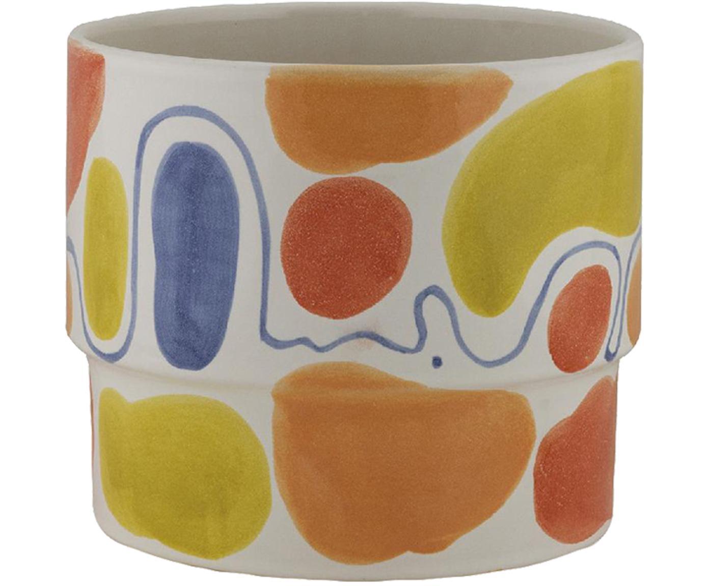 Übertopf Colors, Keramik, Mehrfarbig, Ø 18 x H 15 cm