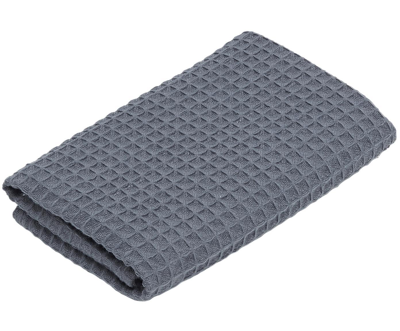 Wafelpiqué handdoek Karima, 100% katoen lichte kwaliteit, 250 g/m², Donkergrijs, Gastendoekje