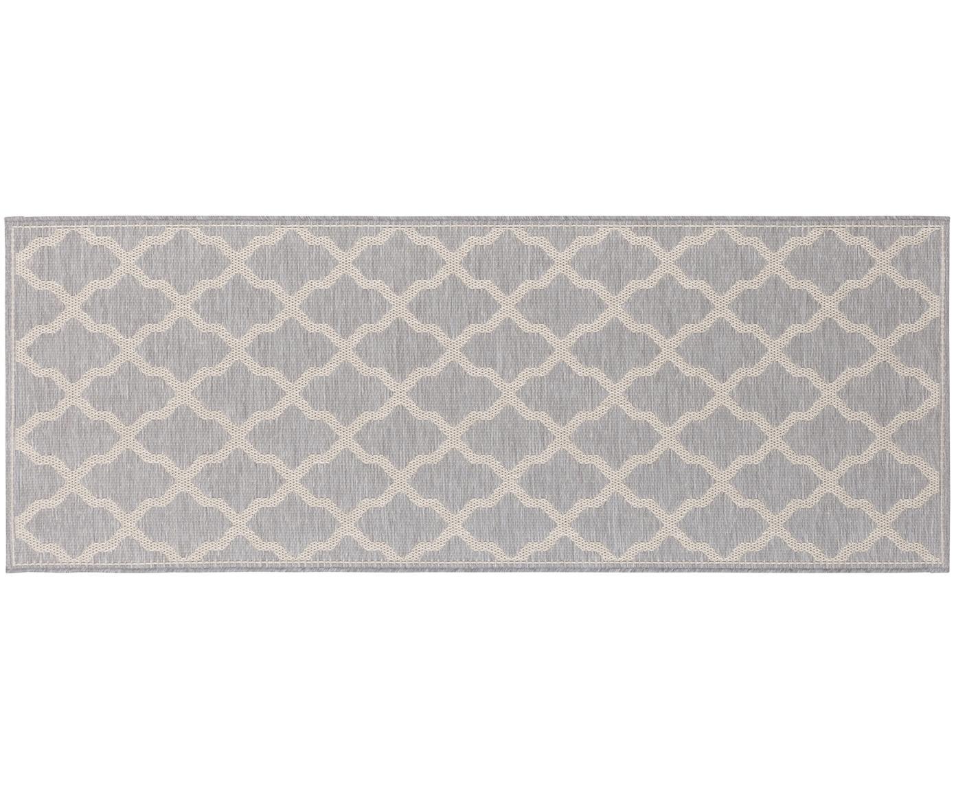 Alfombra de interior/exterior Heaven, Gris plata, crema, An 76 x L 200 cm
