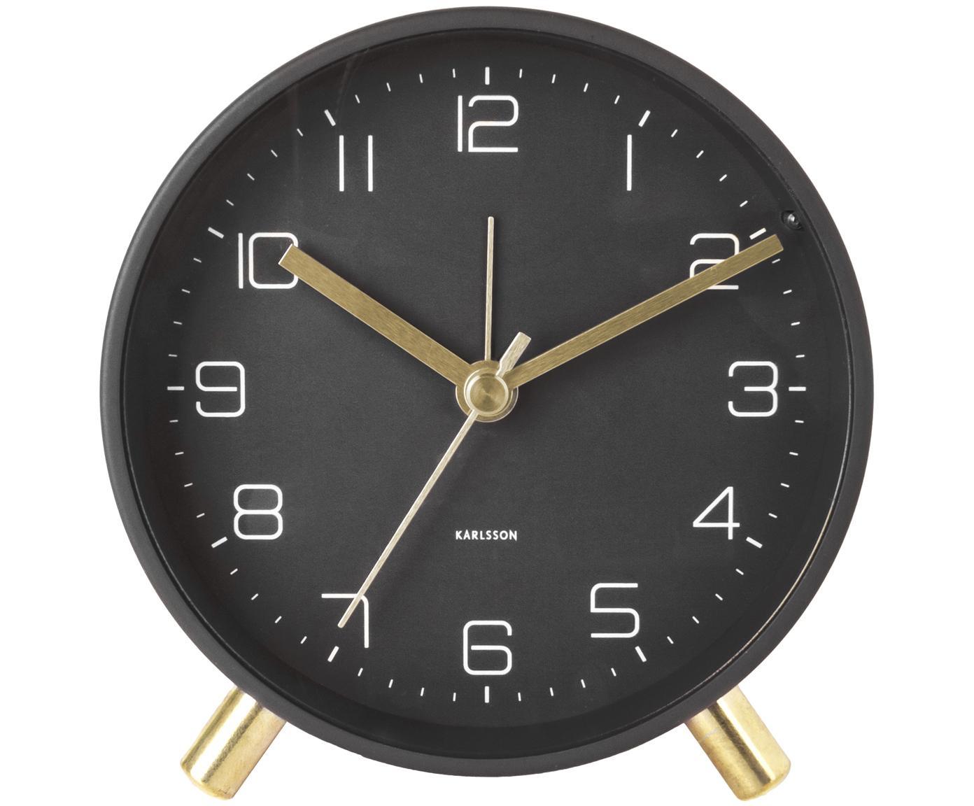 Wekker Lofty, Gelakt metaal, Zwart, Ø 11 x D 5 cm