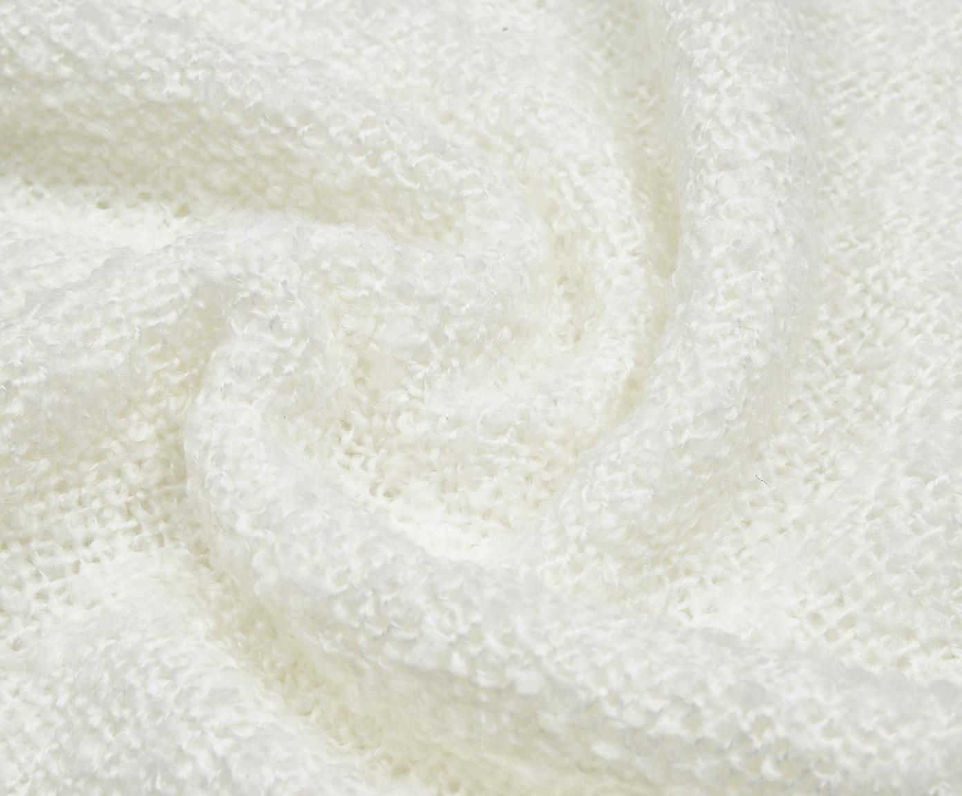 Pled Mysa, Poliakryl, Złamana biel, S 120 x D 150 cm