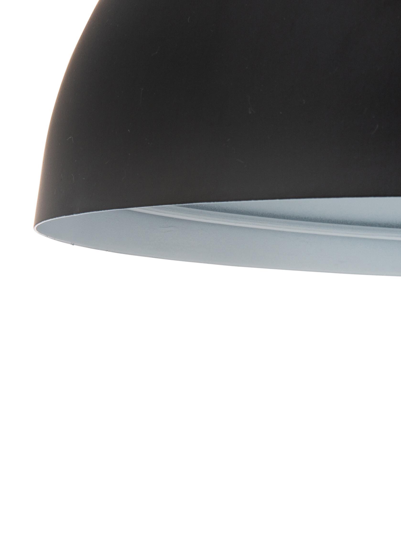 Lampada da tavolo in metallo Matilda, Paralume: metallo verniciato a polv, Base della lampada: metallo verniciato a polv, Nero, Ø 29 x Alt. 45 cm