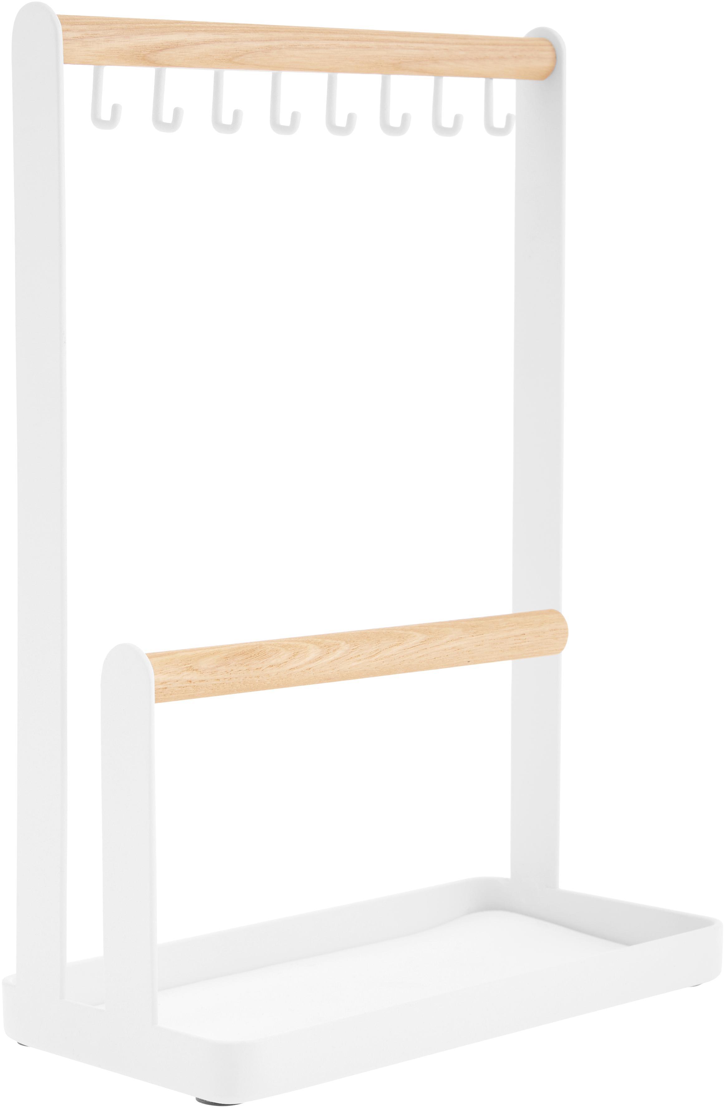 Portagioie Tosca, Asta: legno, Bianco, marrone, Larg. 20 x Alt. 29 cm
