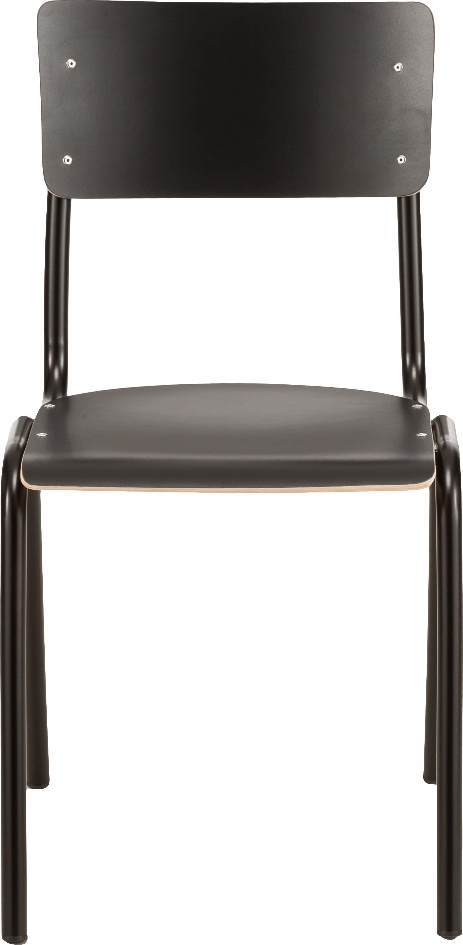 Stühle Back to School, 4 Stück, Sitzfläche: Laminat, Schwarz, B 43 x T 47 cm