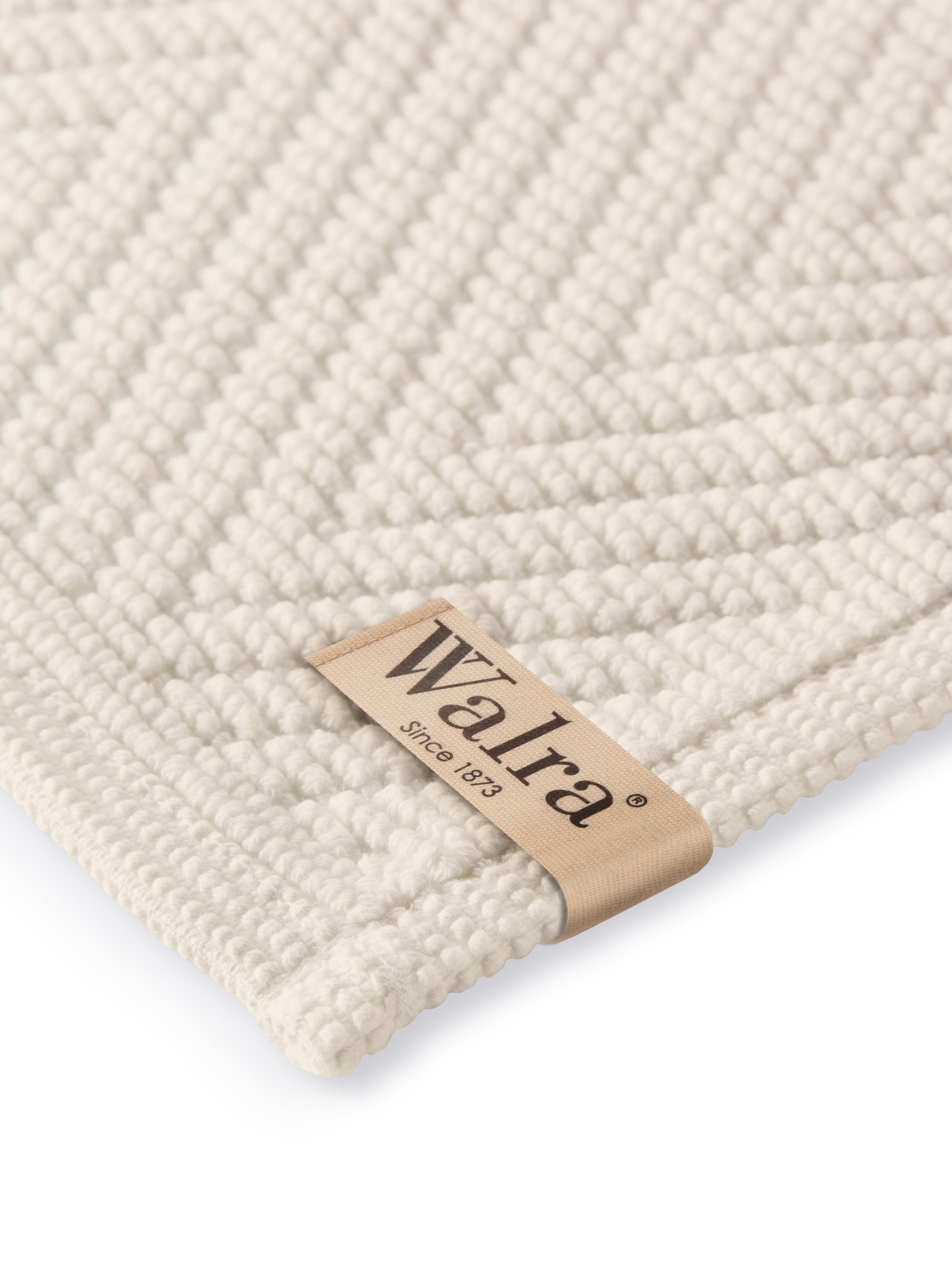 Badvorleger Soft Cotton mit Fischgrätmuster, 100% Baumwolle, Hellbeige, 60 x 100 cm
