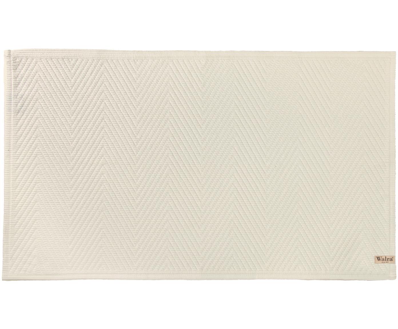 Tappeto bagno con motivo spina di pesce Soft Cotton, Cotone, Grigio pietra, Larg. 60 x Lung. 100 cm