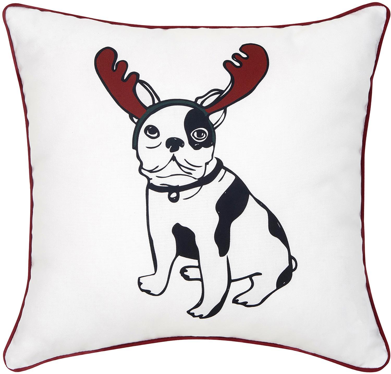 Poszewka na poduszkę Lola, 100% bawełna, Poduszka: wielobarwny Wykończenie brzegów: czerwony, S 40 x D 40 cm