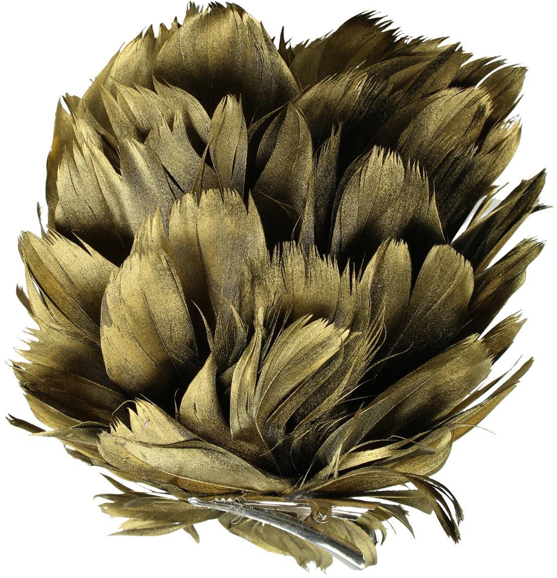 Baumanhänger Flower, Goldfarben, Ø 15 cm