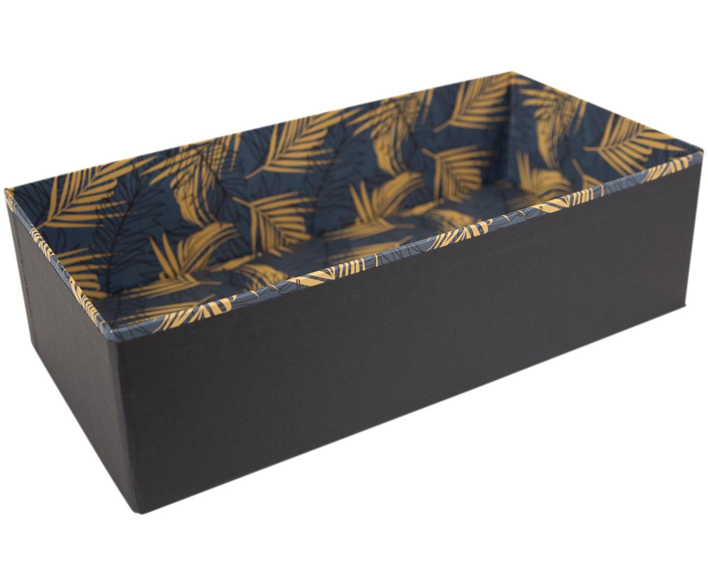 Organizer Drawer, Solidna tektura laminowana, Odcienie złotego, szaroniebieski, S 36 x W 10 cm