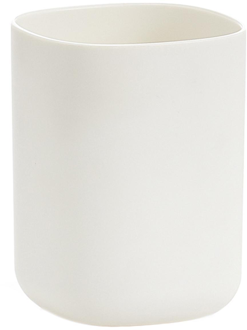 Kubek na szczoteczki Caro, Tworzywo sztuczne, Biały, S 7 x W 10 cm