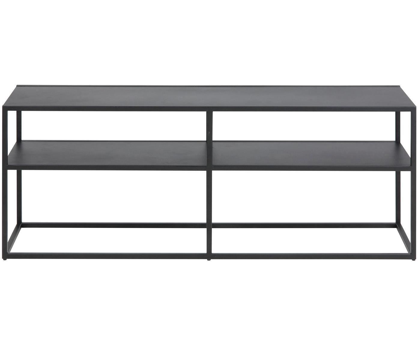 Szafka niska z metalu Newton, Metal malowany proszkowo, Czarny, S 120 x W 46 cm