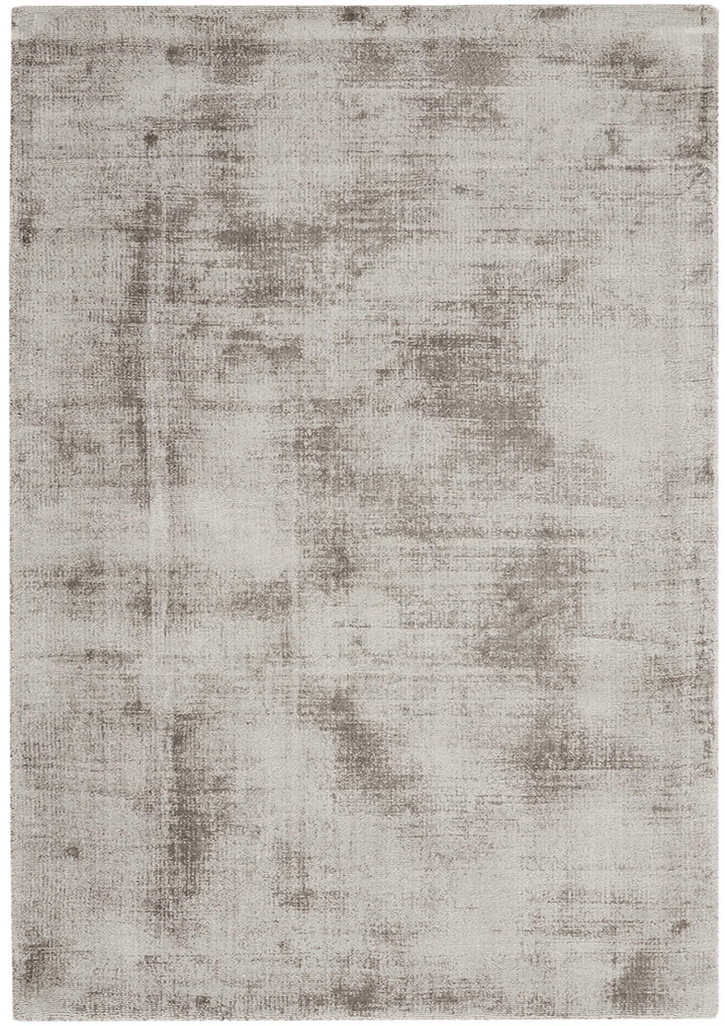 Tappeto in viscosa tessuto a mano Jane, Retro: 100% cotone, Taupe, Larg.160 x Lung. 230 cm  (taglia M)