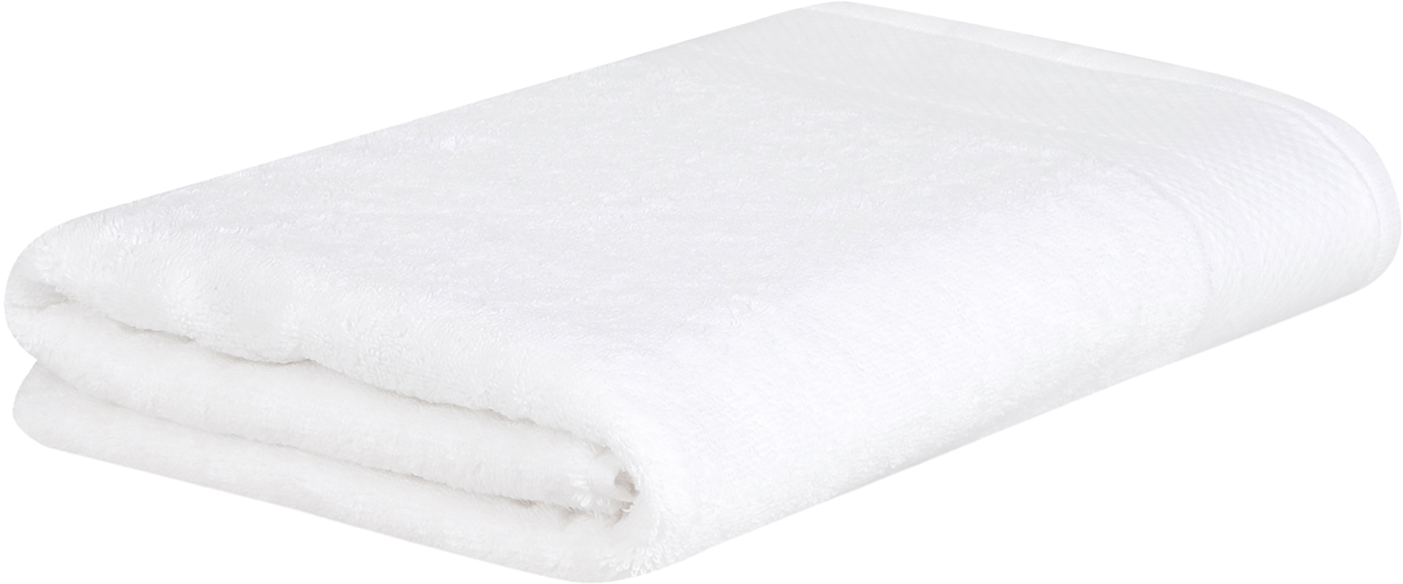 Handtuch Premium in verschiedenen Größen, mit klassischer Zierbordüre, Weiß, Handtuch