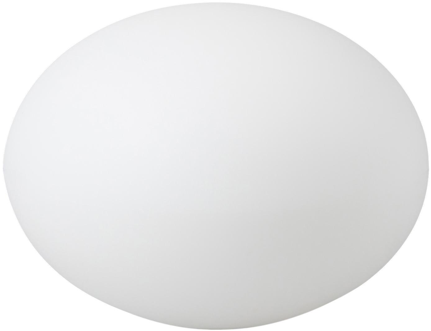 Outdoor vloerlamp Apollo met stekker, Kunststof, Wit, Ø 40 x H 30 cm