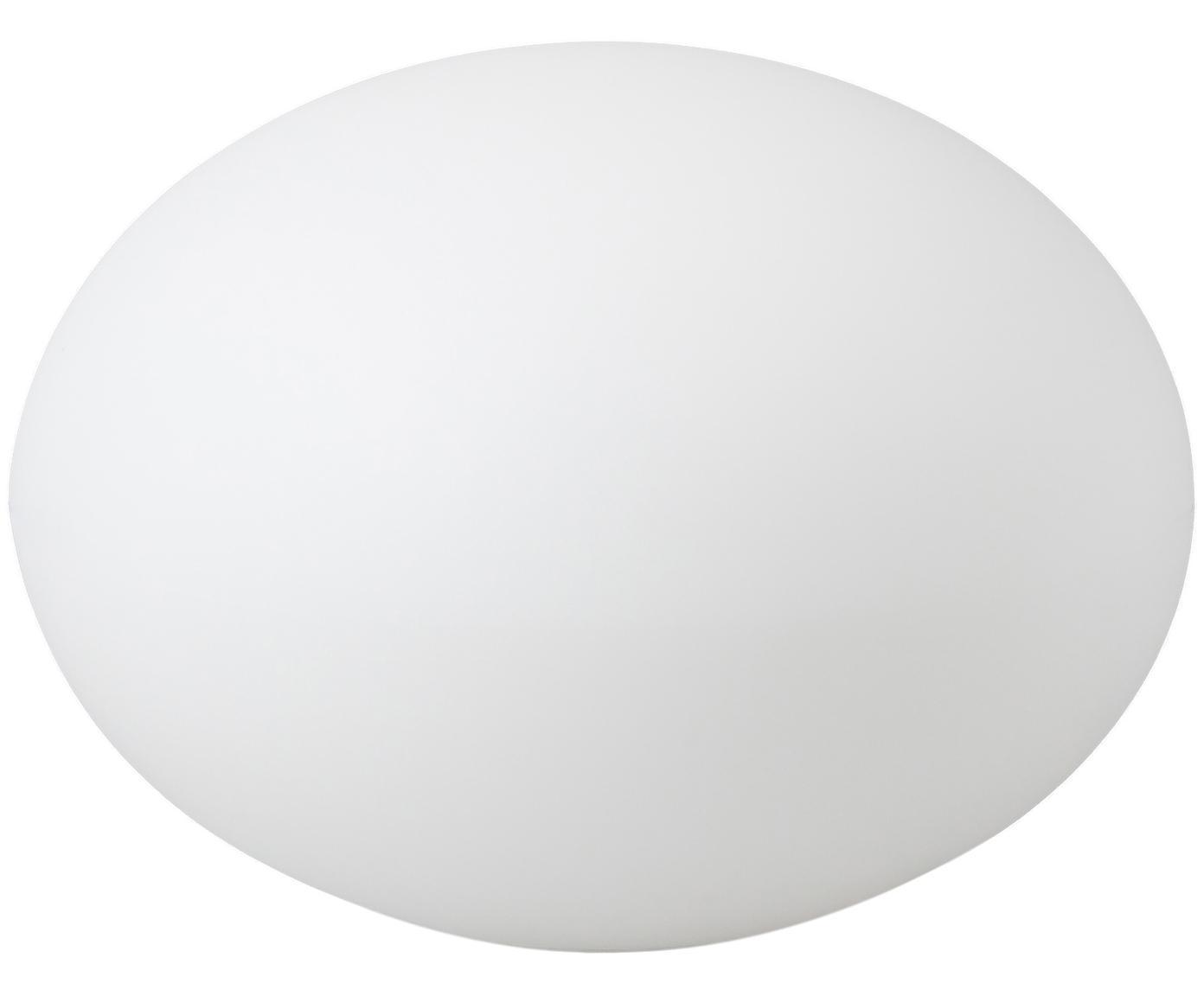 Lampada da terra con spina Apollo, Materiale sintetico, Bianco, Ø 40 x Alt. 30 cm