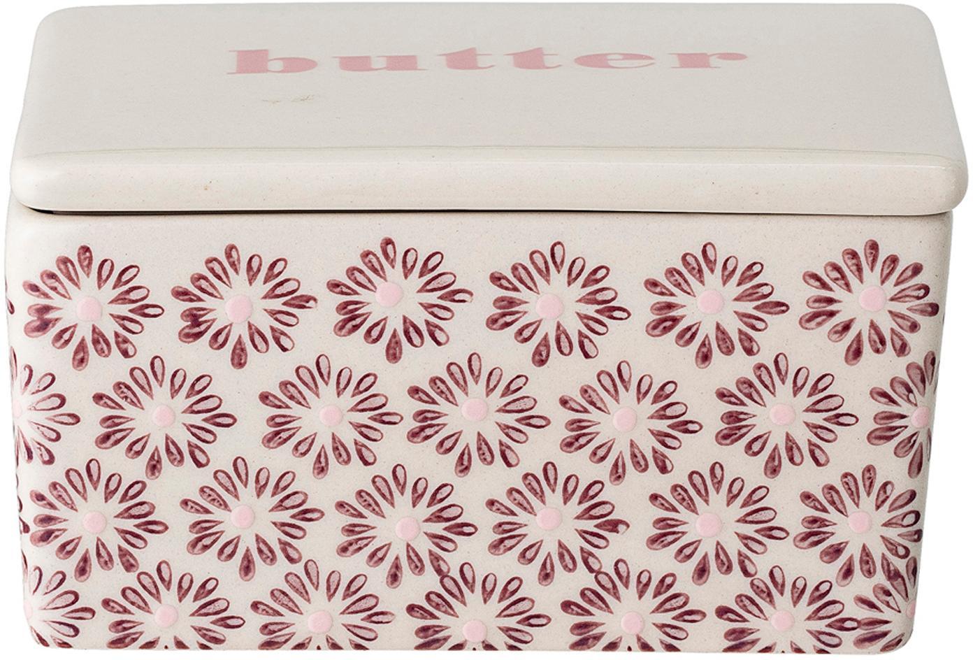 Mantequillera Maya, Gres, Rosa, Beige, An 13 x Al 7 x F 9 cm