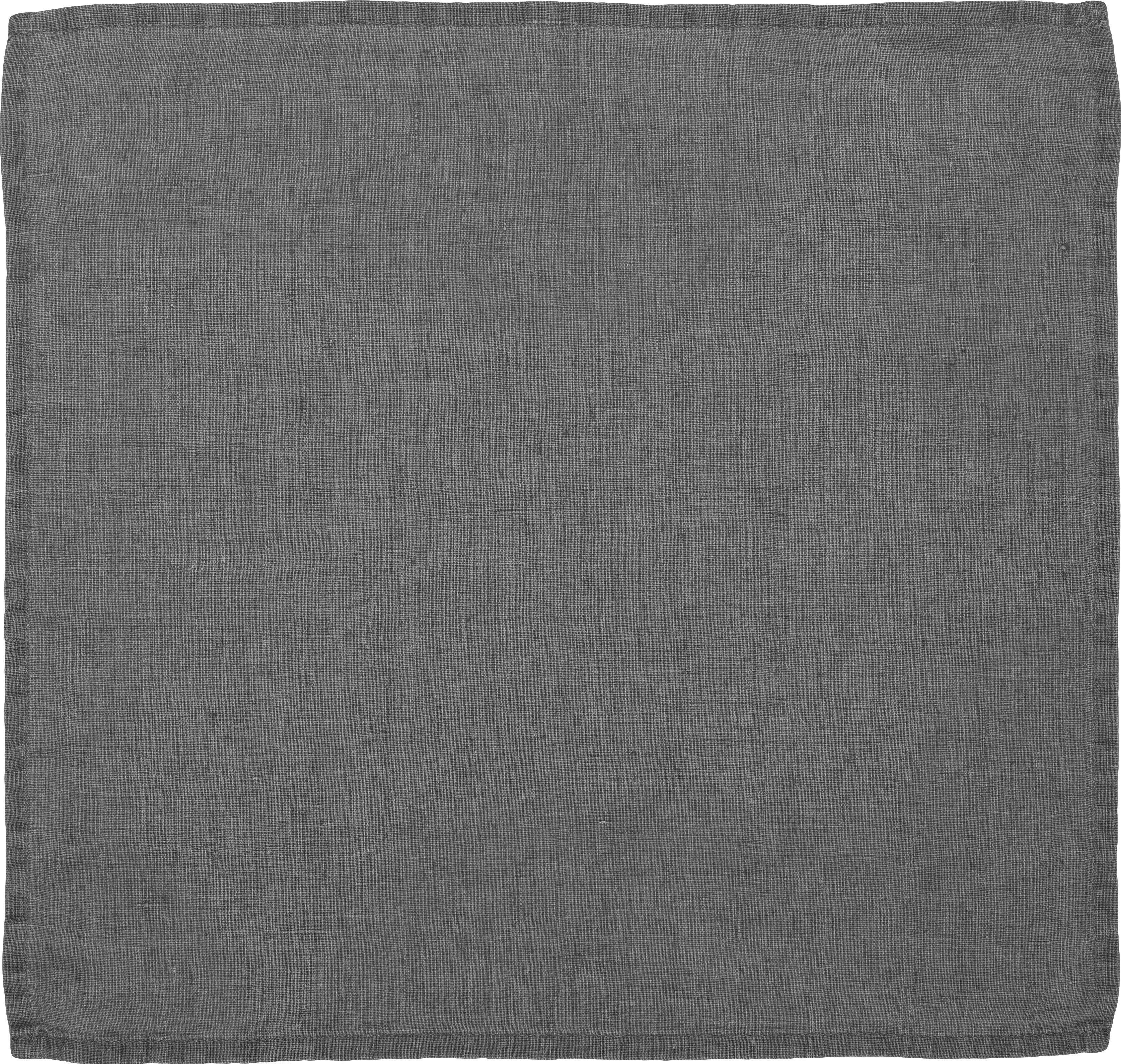 Servilletas de lino Ruta, 6uds., Gris, An 43 x L 43 cm