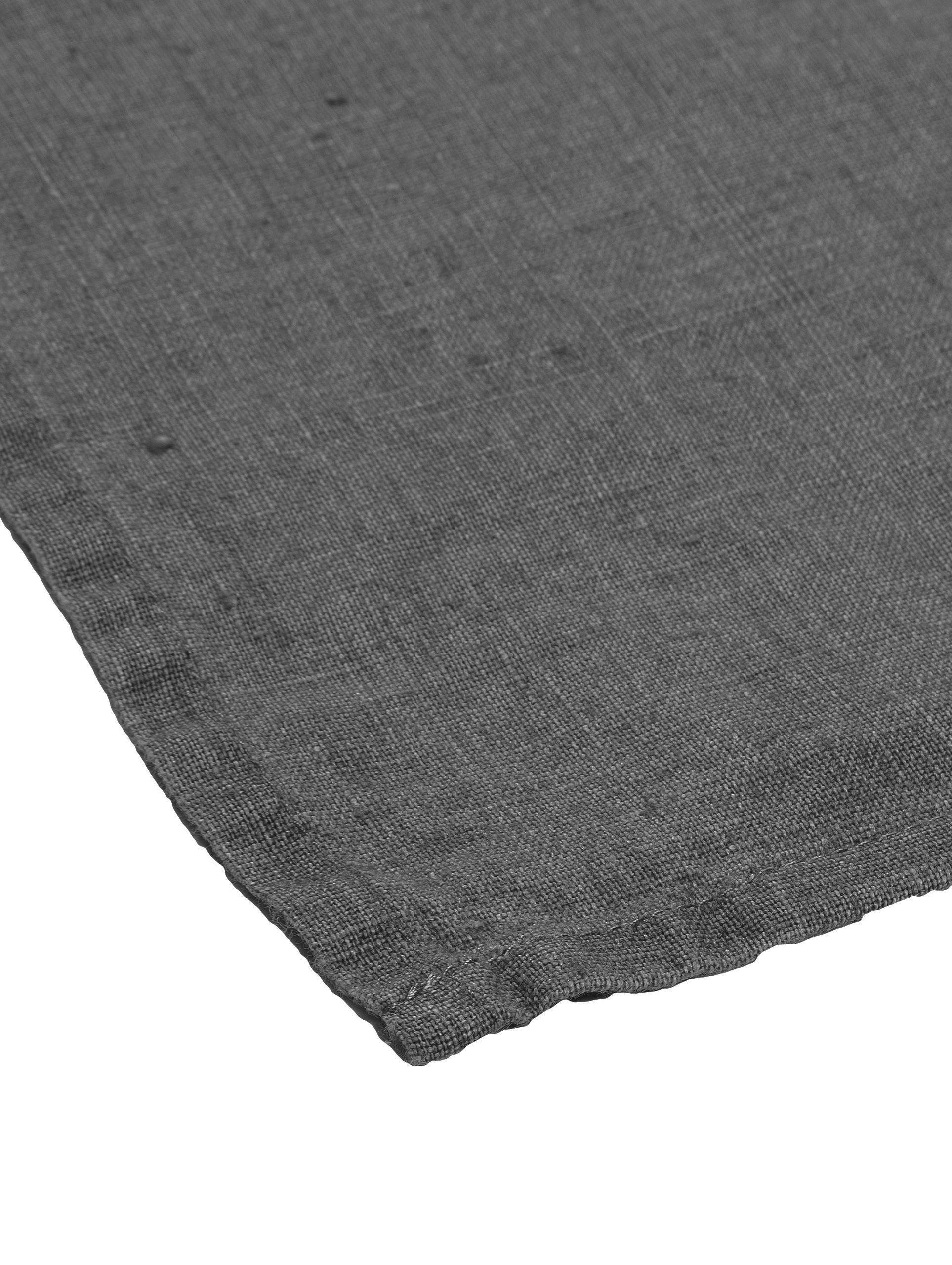 Leinen-Servietten Ruta, 6 Stück, Grau, 43 x 43 cm